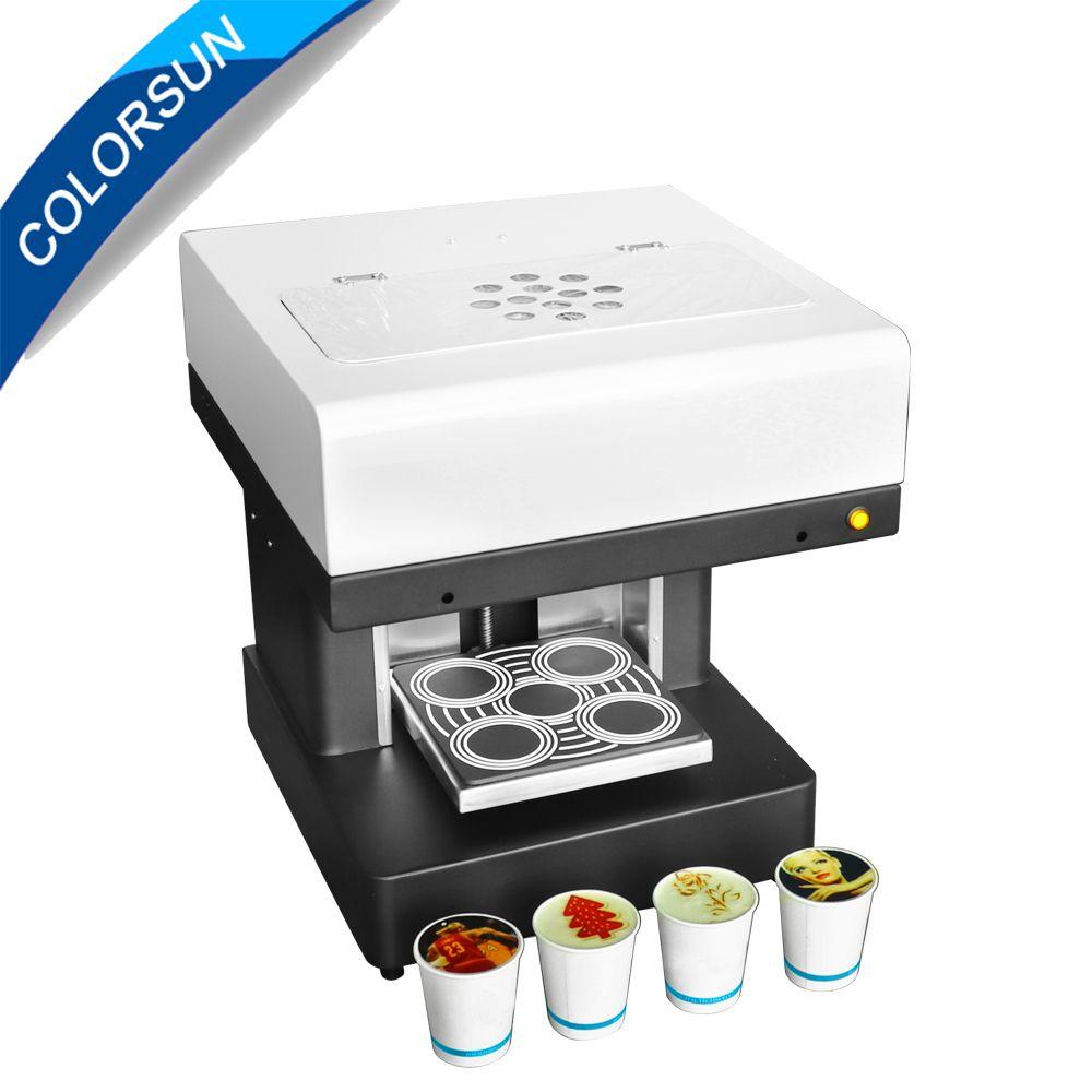 Colorsun Automatische 4 tassen upgrade Kaffee drucker DIY 3D Latte art Cofee drucker maschine mit essbare tinte