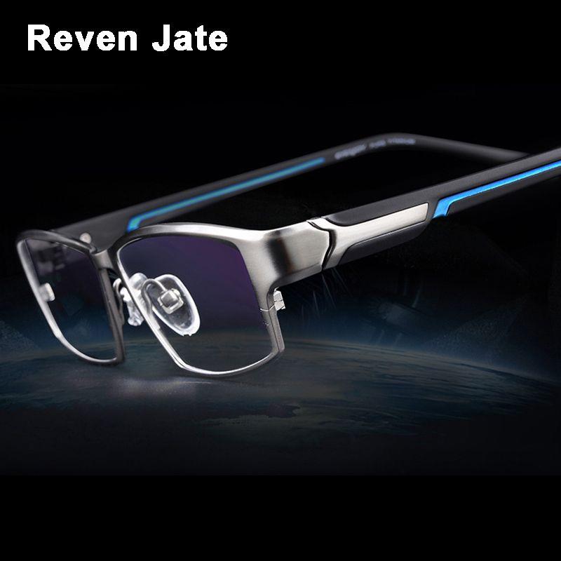 Reven Jate EJ267 Mode Männer Brillen Rahmen Ultraleichte gewichteten Flexible IP Elektronische Plattierungsmetall Material Rim Glasses