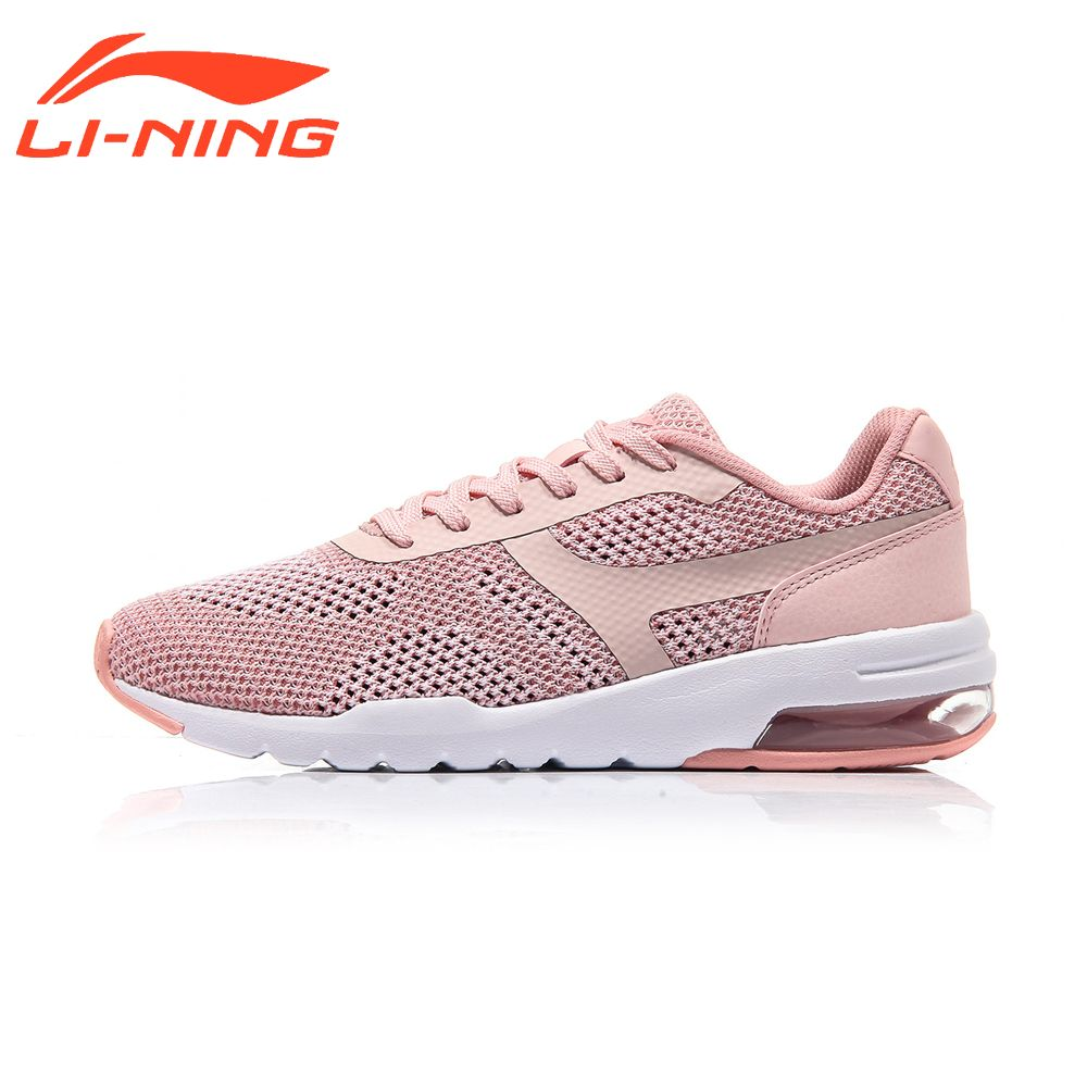 Li-Ning Women's Mesh Walking Shoes Bubble Up Knit Classic Summer Breathable Cushion Sports Shoes Sneakers LiNing AGCM046