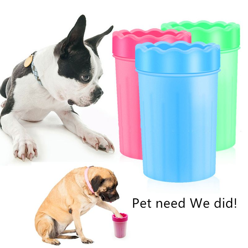 Plunger For Dog Paw Cleaner Cup Soft Silicone Combs Portable Cat Foot Washer Paw Wash Dirty For Small Medium Big Pet Accessories
