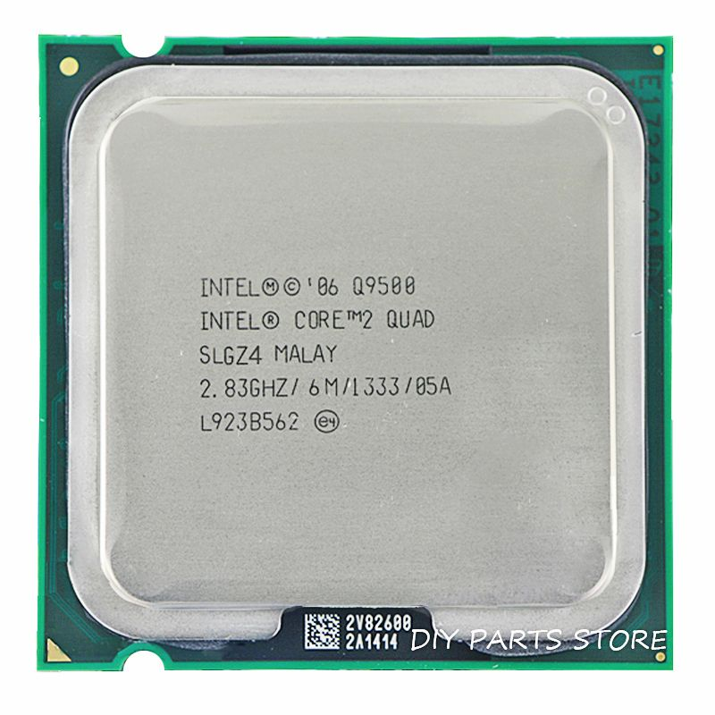 INTEL Core 2 QUDA Q9500 Socket LGA 775 CPU Processeur 2.8 Ghz/6 M/1333 GHz