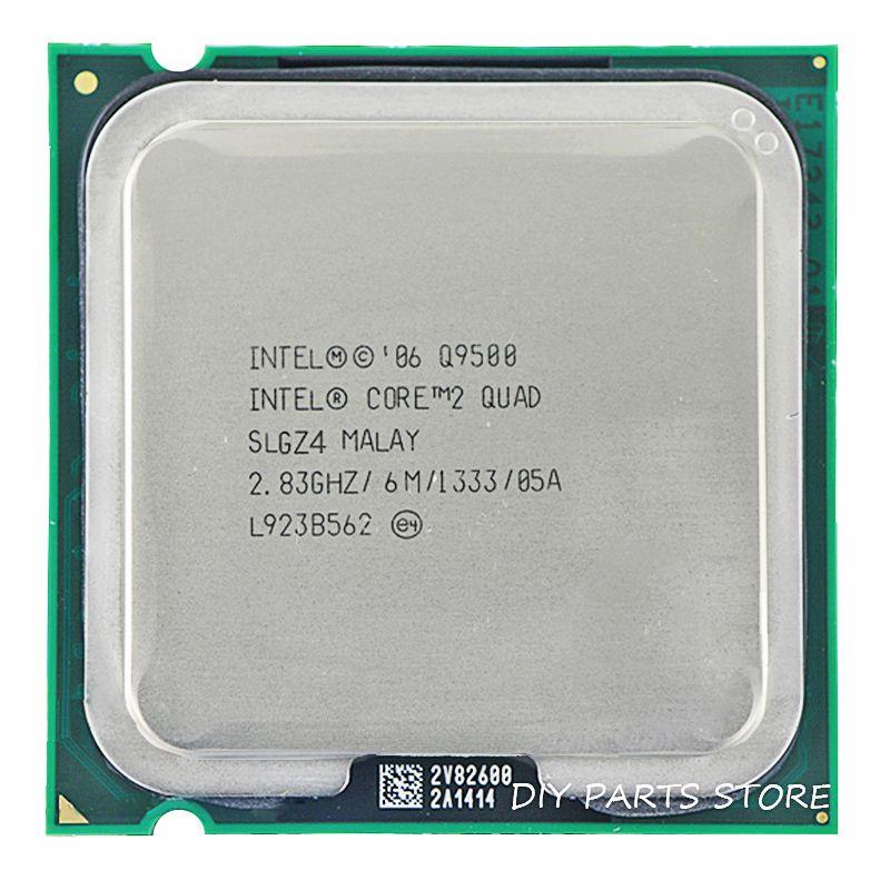 Processeur d'unité centrale INTEL Core 2 Quad Q9500 Socket LGA 775 2.8 Ghz/6 M/1333 GHz
