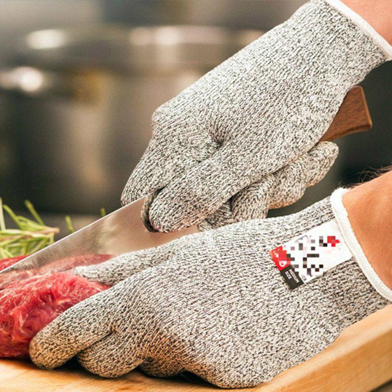 Alimentos grado cocina resistente Guantes para Cúter y rebanar Nivel 5 protección Guantes para Mandolina y cuchillo