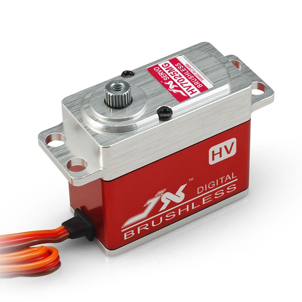 JX BLS-HV7025MG 25 KG engrenage en métal CNC coque en Aluminium haute tension sans brosse numérique Standard Servo