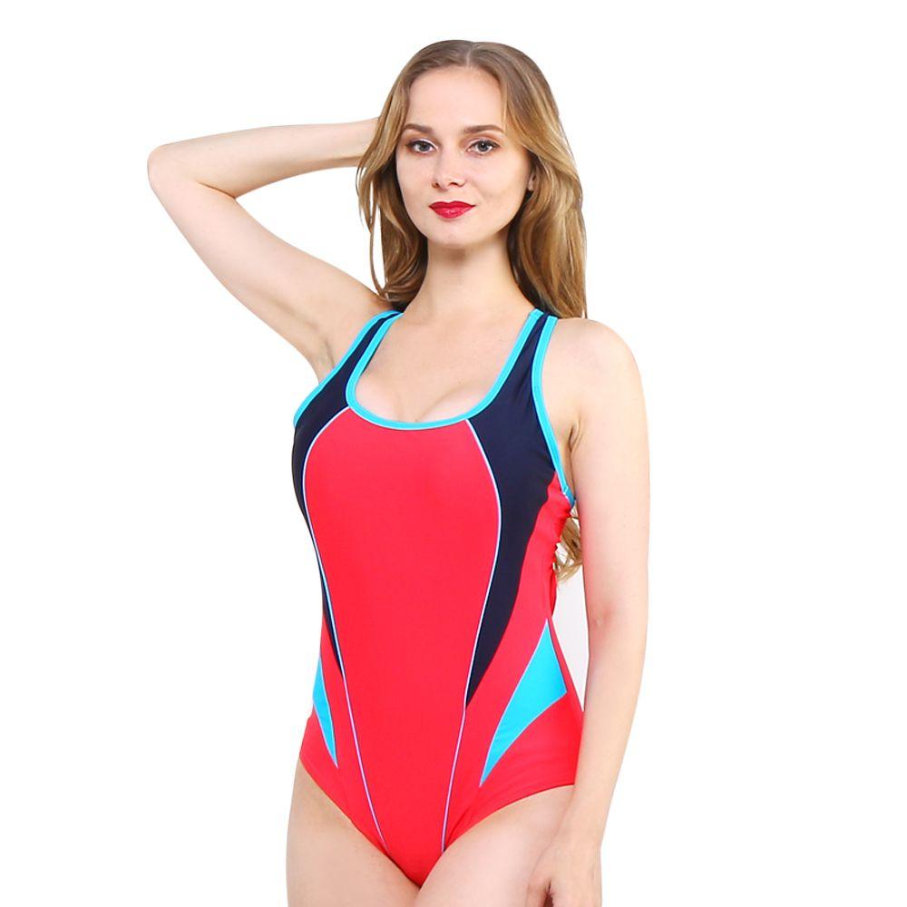Weibliche einteilige frauen bademode sportlichen stil sexy halterbig größe große tasse plus bust badeanzug badeanzug body suit