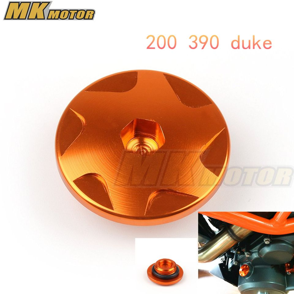 Motocycle Orange CNC Aluminum Car Racing Engine Cover Camshaft Plug For KTM DUKE  200 390 Free shipping