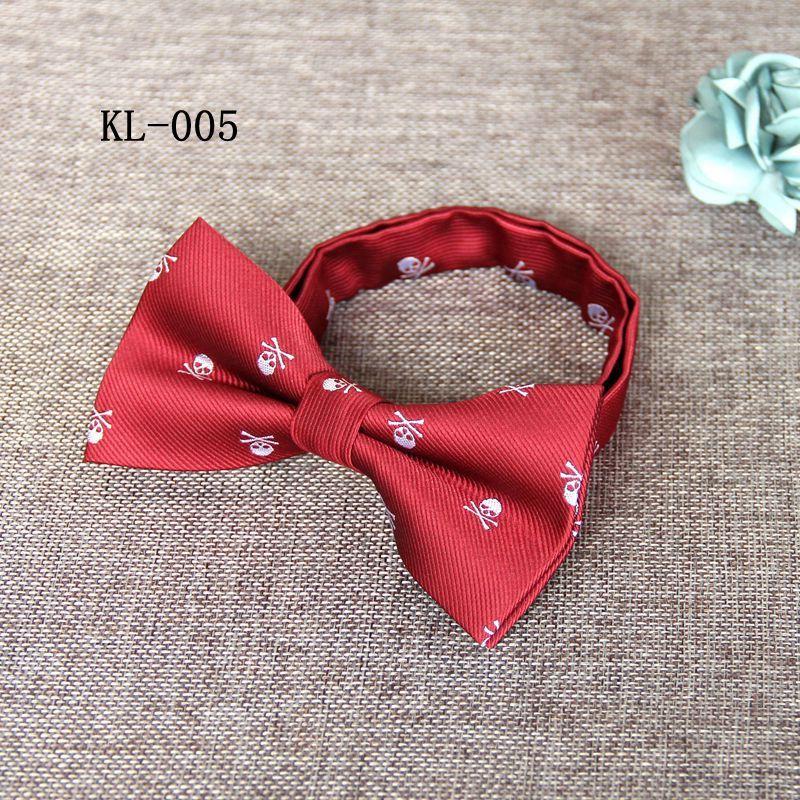 Mantieqingway Men's Polyester Skull Bow Ties For Men Navy Blue Fashion Bowtie Bowknot Wedding Groom Bowtie Gravata Slim Cravats