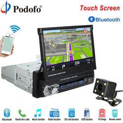 Podofo Mobil Radio Autoradio GPS Bluetooth Mobil Player 1 DIN 7