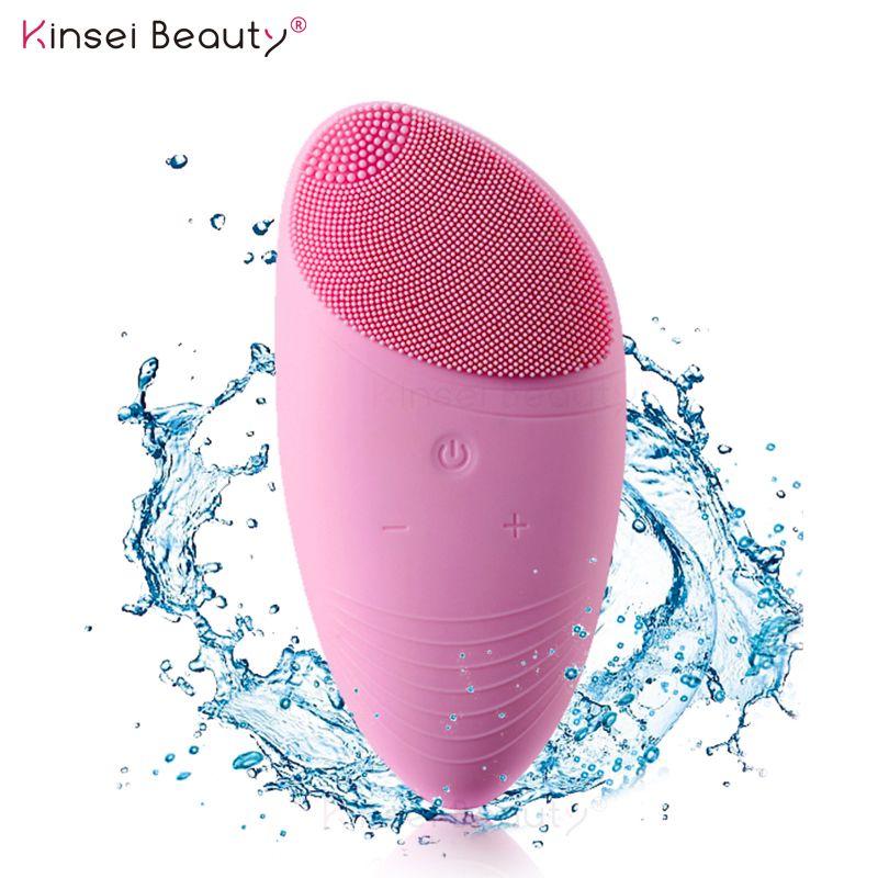 Électrique Silicone Du Visage brosse de nettoyage sonic Vibration De Massage USB Rechargeable Intelligent Ultra sonic Visage Cleaner Outil de Beauté
