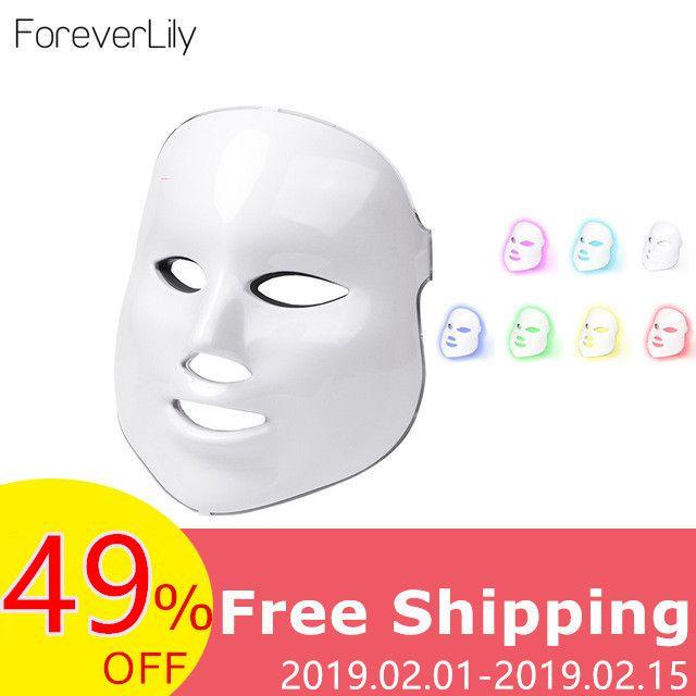 Foreverlily led masque de thérapie Lumière Masque Thérapie led photon masque facial Coréen Soins de La Peau masque led Thérapie