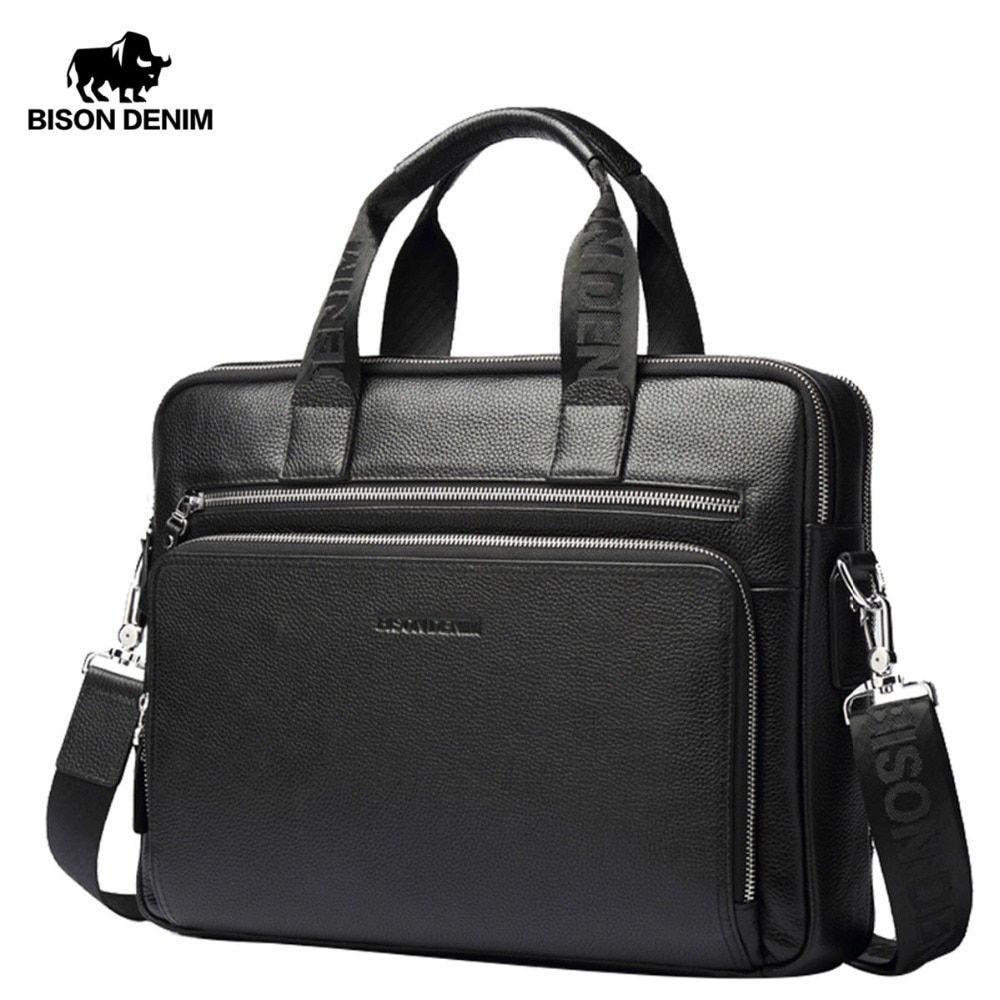 BISON DENIM Genuine leather Briefcases 14