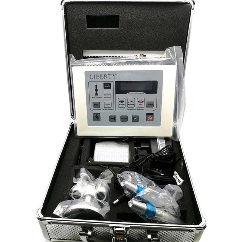 Professional Liberty eyebrow digital permanent makeup tattoo machine kit with 2pcs tattoo pen and 20pcs needle Free shipping
