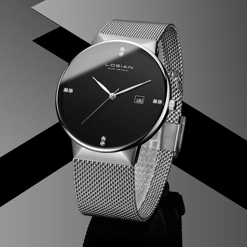 Losian Fashion 2018 Watch Men Luxury Fashion Casual Calendar Water Resistant relogio masculino de luxo waterproof watch