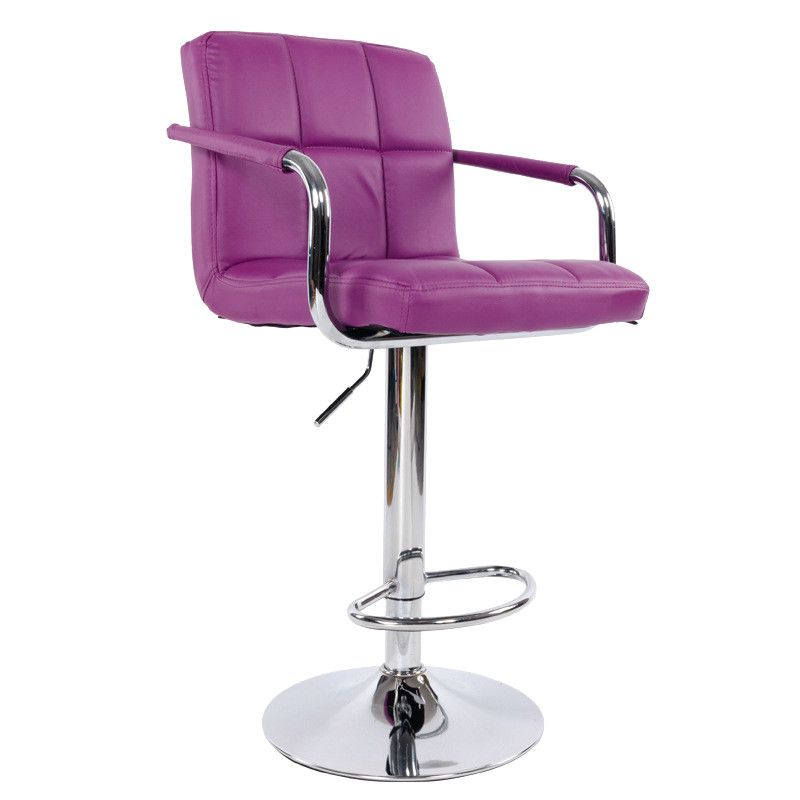 Swivel Lifting Bar Chair Rotating Adjustable Height Bar Stool Chair Stainless Steel Stent Armrest Footrest 20 Colors Optional