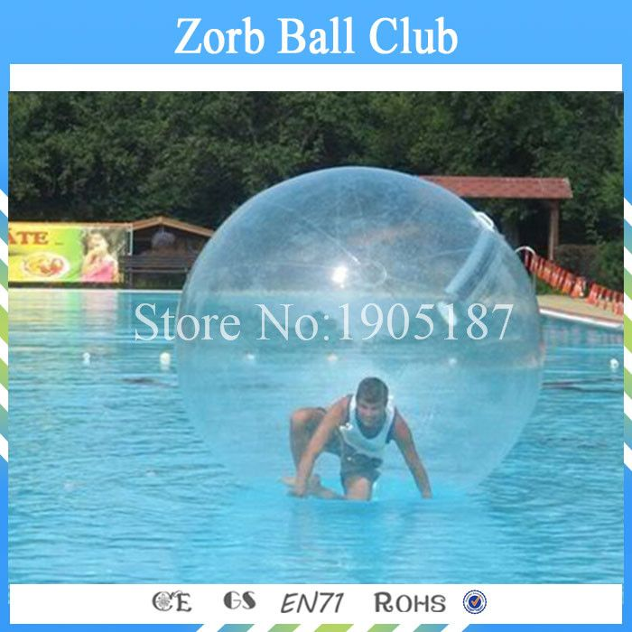 Free Shipping Water walking Ball Toy Ball With TPU 1.0mm and Germany TIZIP Zipper Of 2m Diameter For 1-2 Persons
