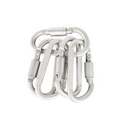 5 pcs Mosquetão De Alumínio Equipamento Equipamento de Caça de Acampamento Ao Ar Livre Sobrevivência Kit de Bloqueio Mosquetão