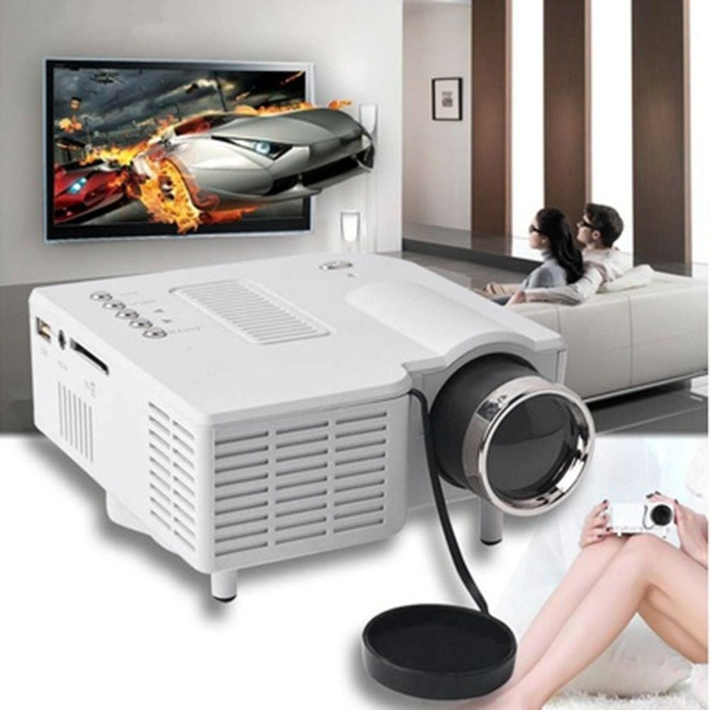 UC28+ Mini Portable 1080P HD Projector Home Cinema Theater Upgraded HDMI Interface Home Entertainment Device Multimedia Player