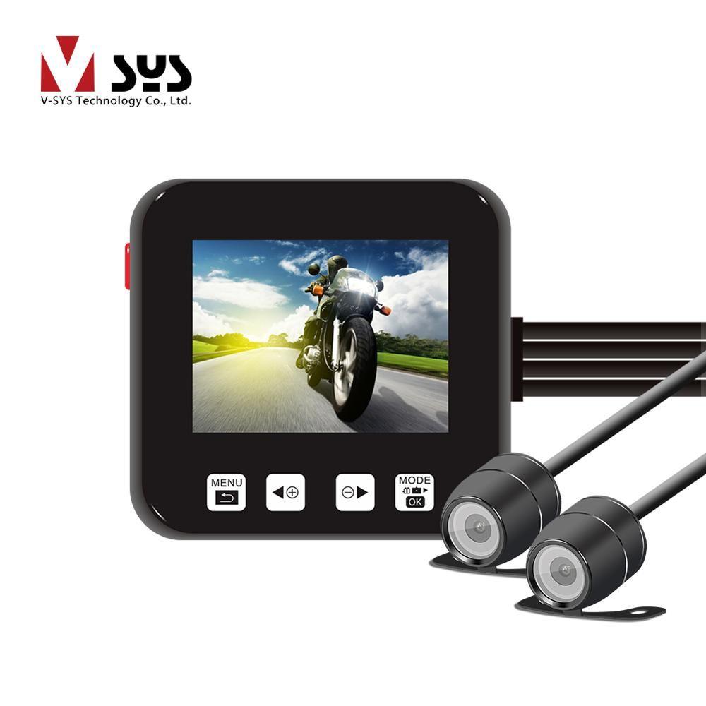 SYS VSYS C6 Dual Motorrad Action Kamera Recorder DVR Vorne und Hinten View Wasserdichte Motorrad Dash Cam Schwarz Nachtsicht box