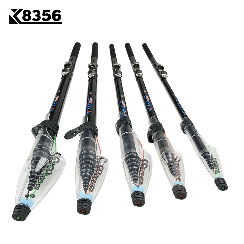 K8356 2.7 m 3.6 M 4.5 M 5.4 M 3.0 M 6.3 M Spinning Canne À Pêche M puissance Télescopique Rock Canne À Pêche Carp Feeder Rod Surf Spinning Rod