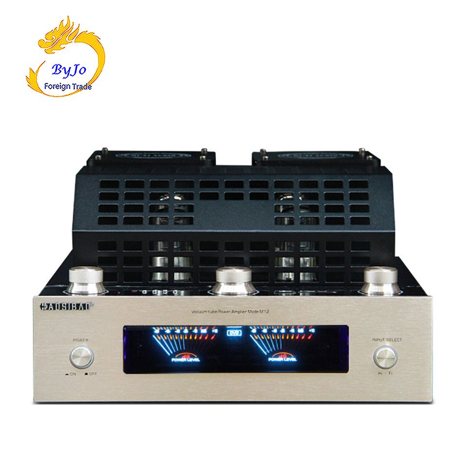 M12 HI-FI Bluetooth Vacuum Tube Stereo Amplifier support USB audio power amplifier BASS hifi output 2 support 220V or 110V