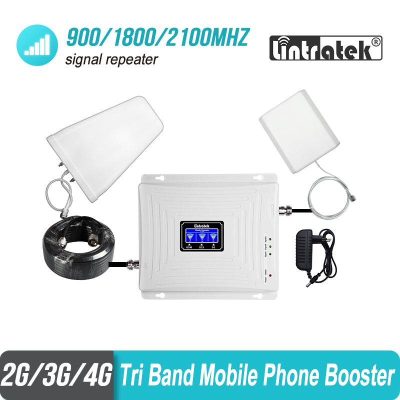 Lintratek 2g 3g 4g Tri Band Signal Booster 900 1800 2100 GSM WCDMA UMTS LTE Cellular Repeater 900/1800/2100mhz Amplifier #4