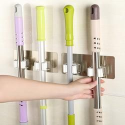 2018 Wall Mounted Mop Organizer Holder Brush Broom Hanger Storage Rack Kitchen Tool JA16