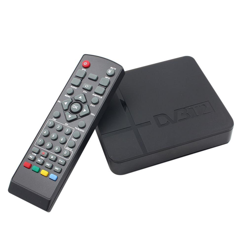 K2 HD DVB-T2 Numérique Terrestre Récepteur Set-top Box avec Lecteur Multimédia H.264/MPEG-2/4 Compatible avec DVB-T pour TV HDTV