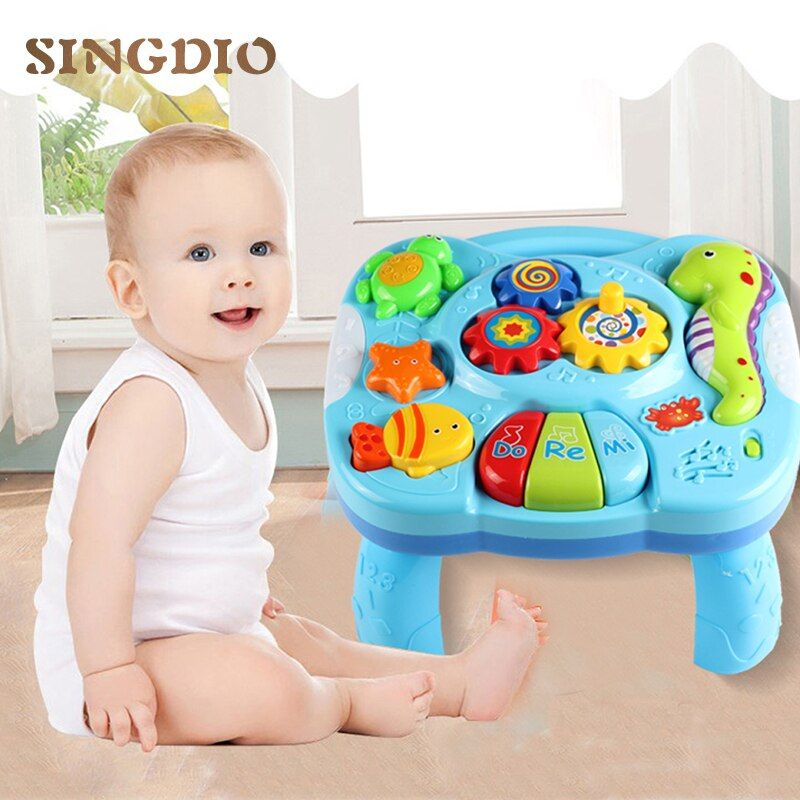 SINGIO Baby Music Table Toy Kids Learning Study Playing Toy Musical <font><b>Instruments</b></font> Educational Toys for Children Christmas Gifts