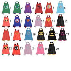 Kids capes double side Superhero capes Hulk Batman superman darth vader Robin Thor black cape super hero Children Party Costumes