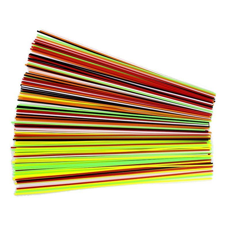 SUNLU 180 stücke 25 cm 1,75mm Barreled ABS Filament 6 Farben Für 3D Druck Zeichnung Stift