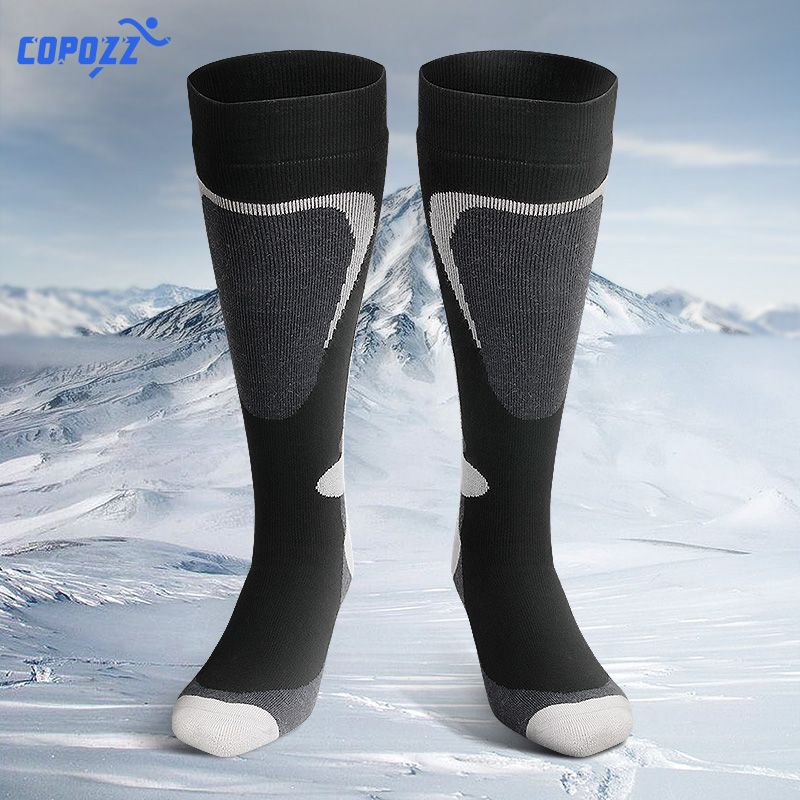 COPOZZ Ski Socks Thick Cotton Sports Snowboard Cycling Skiing Soccer Socks Men & Women Moisture Absorption High Elastic Socks