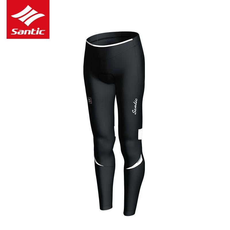 Santic Cycling Pants 2017 Winter Women Fleece Warmer Long Tight Pants 4D Gel Padded Bike Pants ciclismo bicicleta Bicycle pants