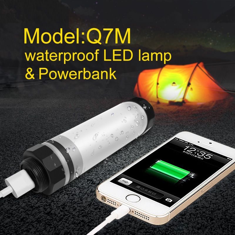 UYLED Q7M Outdoor LED Camping Light IP68 Professional Waterproof Lamp 2600mAh Power Bank For Phone Portable <font><b>Lanterns</b></font> For Hiking