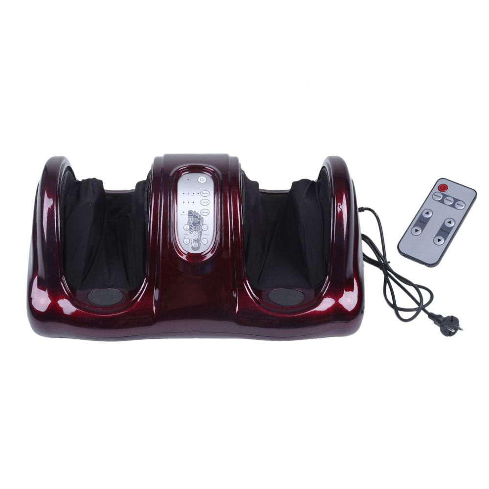 Pro Electric Antistress Therapy Rollers Shiatsu Kneading Foot Legs Arms Massager Vibrator Foot Massage Machine Foot Care Device