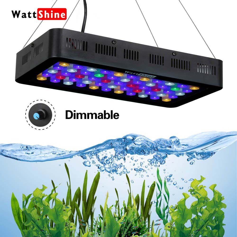 Fish saltwater aquarium Lampe led aquarium Dimmable led grow light 165W 180W Marine fish tank Aquarium reef Manual control