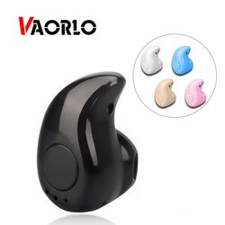 Vaorlo Wireless Headphone Bluetooth Earphone Earbud dengan MIC Mini Tak Terlihat Sport Stereo Bluetooth Headset S530 untuk Xiaomi Ponsel