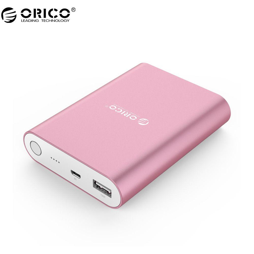 ORICO Q1 USB Tragbare Externe Batterie, 10400 mAh Energienbank, Schnellladegerät QC 2,0 für Ihr Gerät (Q1-BK)