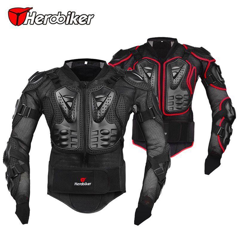 HEROBIKER Professionnel Motocross Hors Route Protecteur Moto Complet Body Armor Veste Moto Équipement De Protection Vêtements 5 Tailles