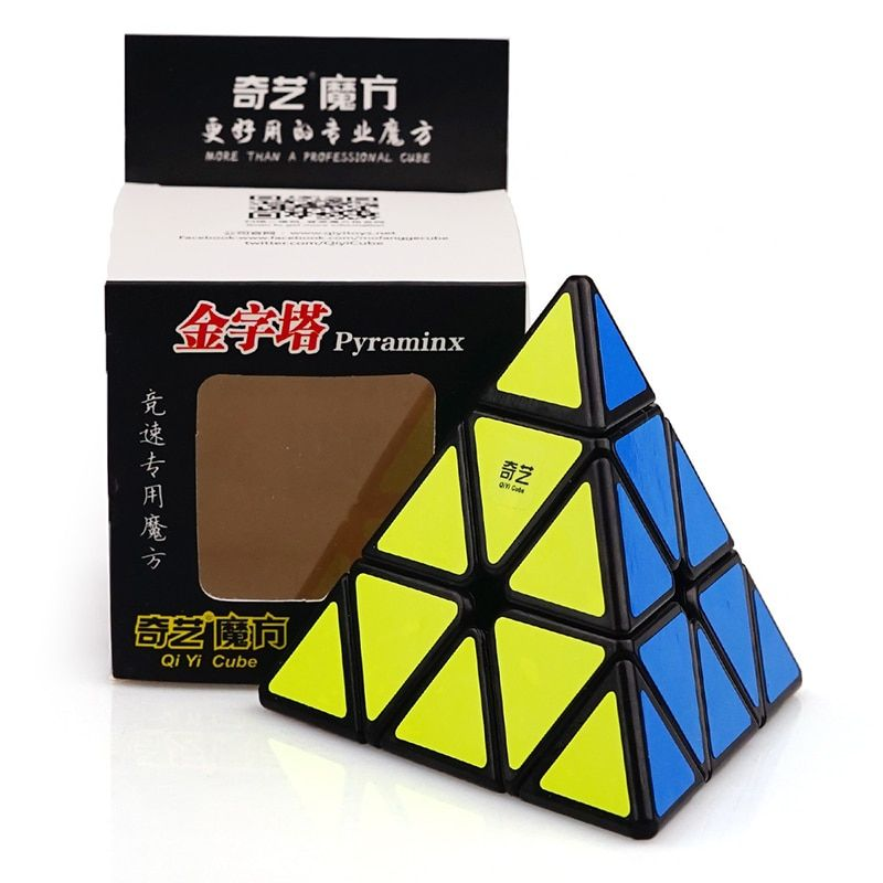 QiYi MoFangGe QiMingA Pirámide Del Triángulo Pyraminx Magic Speed Cube Puzzle Cube Juguetes Cubo Mágico Giro Spinner Cubos de Mano