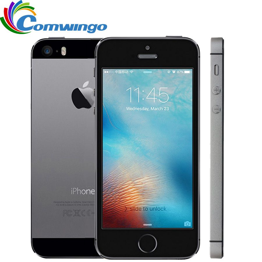Original Unlocked Apple iPhone 5S <font><b>16GB</b></font> / 32GB ROM IOS Touch ID Fingerprint 4.0'' A7 IPS 4G LTE Mobile iphone5s A1533 / A1457