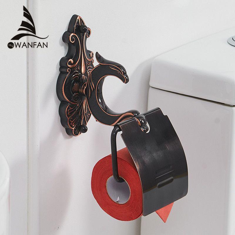 Bath Hardware Sets Black Brushed Bath Cup&Tumbler Holders Europe Toilet Brush Holder Towel Bar Paper Holders Cloth Hook WF-88800