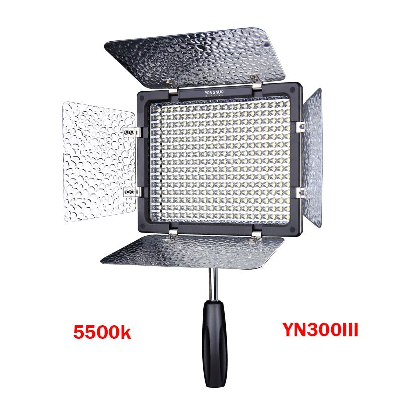 Yongnuo YN300 III YN300lIl LED Video Light 5500K CRI95 with Remote Control,Support AC Power Adapter & APP Remote for Canon Nikon