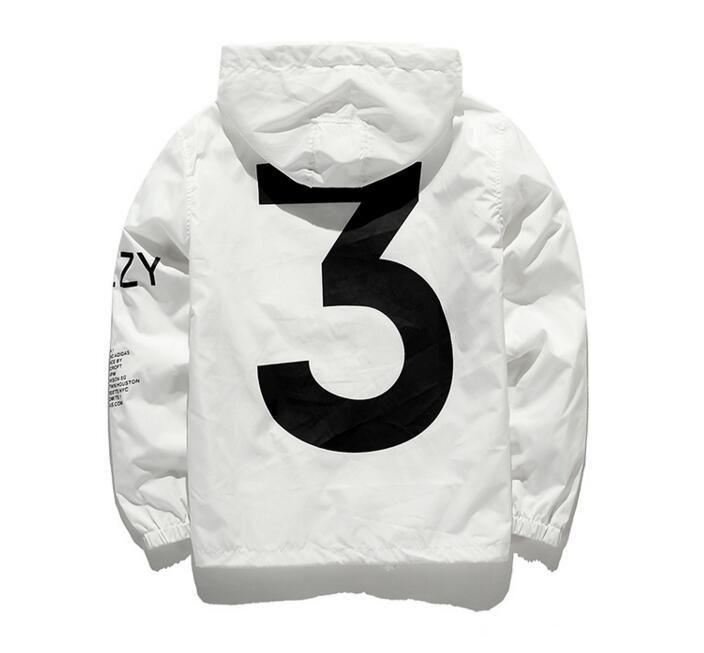 Dropshipping New 2019 Hot Selling Kanye West Y3 Season 3 Windbreaker Men Women Hip Hop Jacket Fashion Outwear