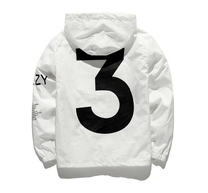 Livraison directe nouveau 2019 vente chaude Kanye West Y3 saison 3 coupe-vent hommes femmes Hip Hop veste mode Outwear