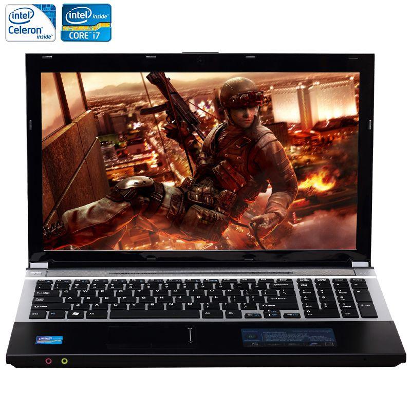 ZEUSLAP 15.6 pouces Intel Core i7 ou Intel Celeron CPU 8 GB RAM + 750 GB HDD Intégré WIFI Bluetooth DVD-ROM Ordinateur Portable Ordinateur portable