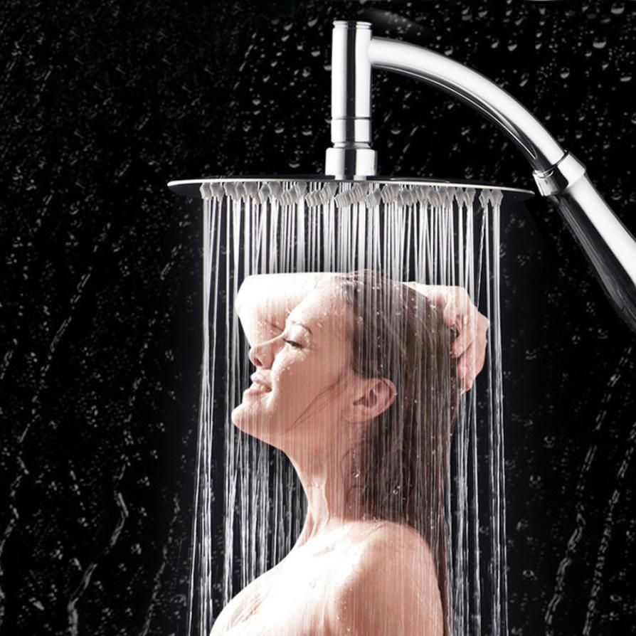NEW 6 inch 360 degrees Rotating Large Shower Head Bathroom Stainless Steel Rain Spray Top Home bathroom faucet shower A17