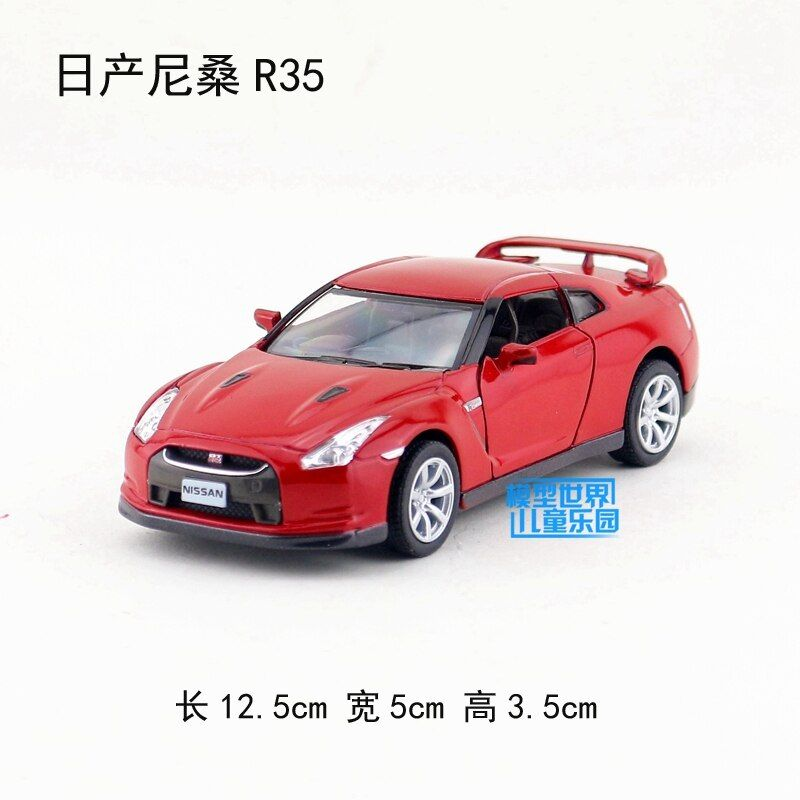 High simulation supercar,Kinsmart 1:36 scale alloy pull back Nissan GTR R35 cars,2 open door model toys,free shipping