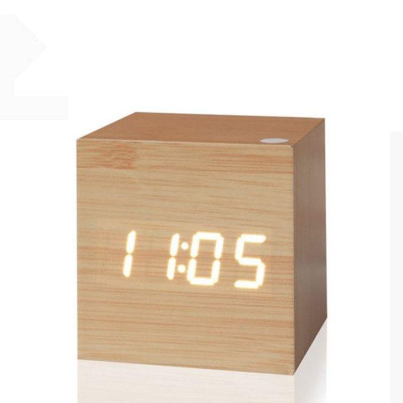 Horloge numérique Antique LED horloge de bureau Vintage rétro Table personnalisée brève horloge d'art montre silencieuse horloge électronique décor à la maison