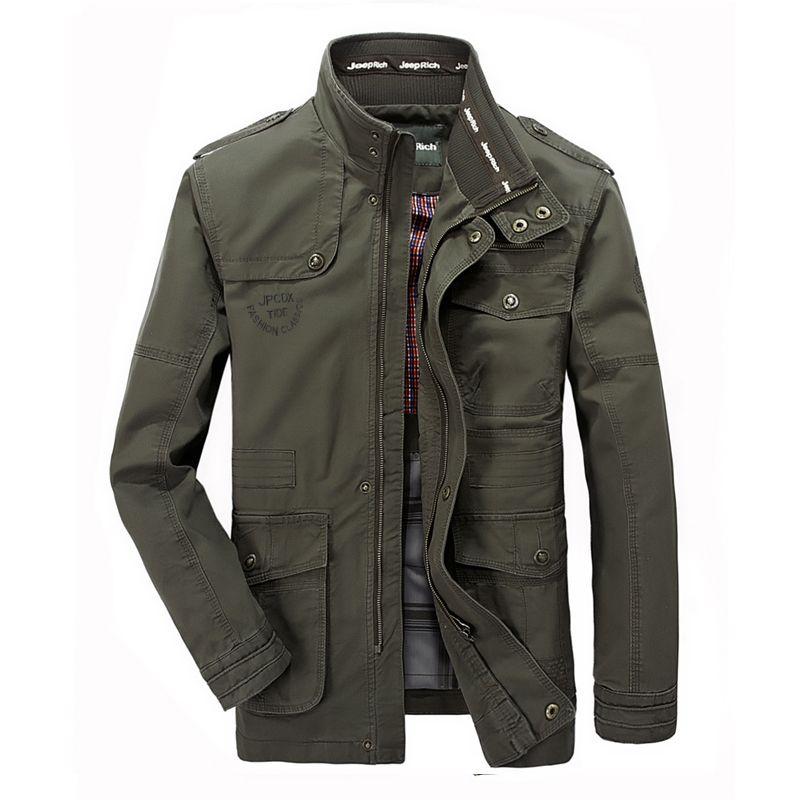 Plus Größe 5XL 6XL 7XL 8XL Marke Military Jacke Männer Baumwolle Stehen Kragen Stickerei Medium-lange Herbst Jacke Für männlichen