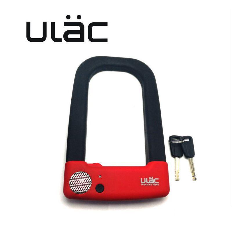 ULAC Bike 110fb Alarm U-lock Anti-damage Bicycle Motorcycle Anti-hydraulic Force Anti Theft Lock Bicycle Accessories Parts LKAX1